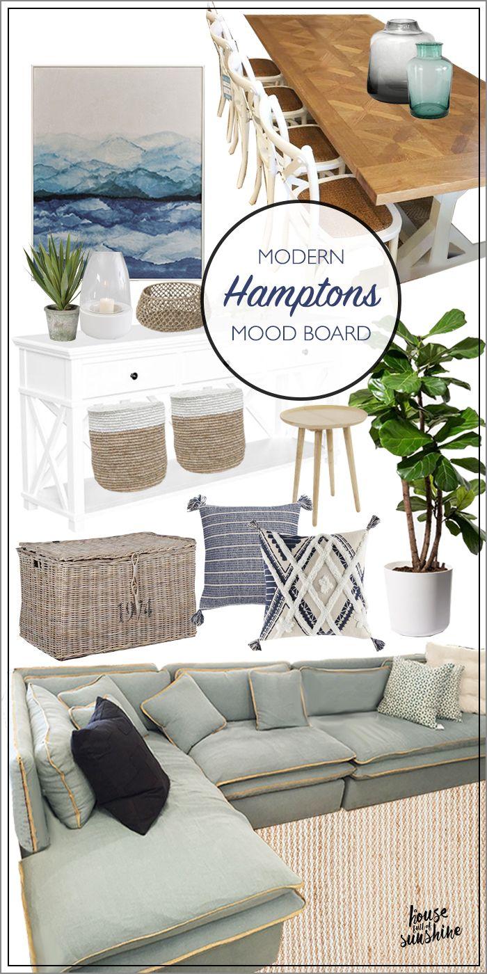 Hampton Home Design Ideas: Hamptons Living And Dining Mood Board