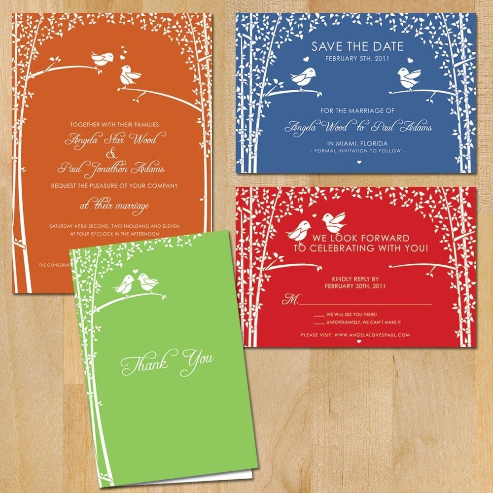 SAMPLE+Love+Birds+Wedding+Invitation+by+vohandmade+on+Etsy,+$3.00 ...