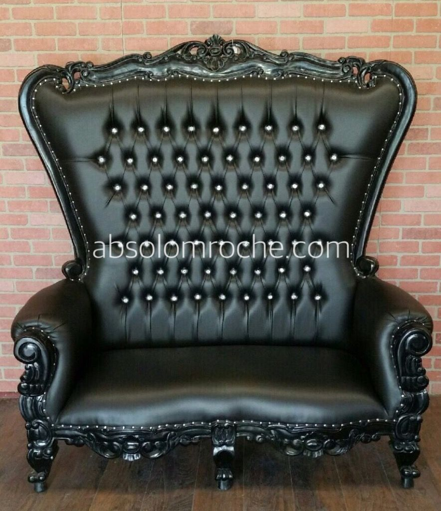 Absolom Roche Loveseat Blackblack Gothic Decor Pinterest