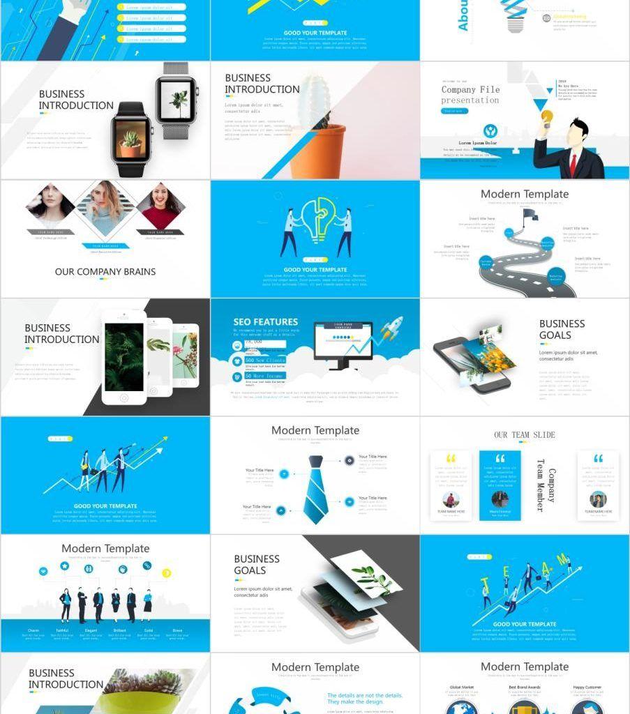 Clean Business Plan Presentation Template