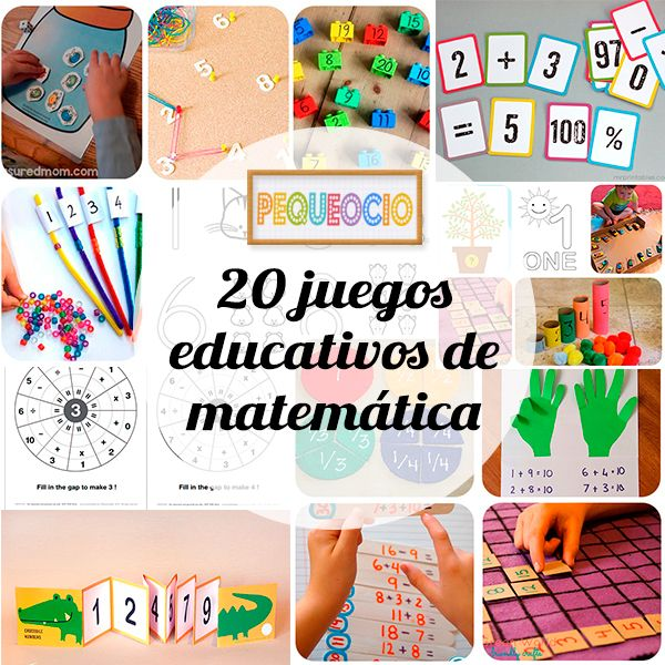 20 Juegos Educativos Para Aprender Matematicas Kids Projects