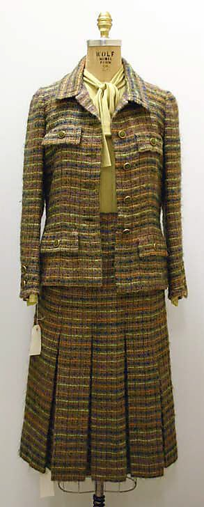 Suit, House of Chanel, F/W 1976-77, French, wool and silk