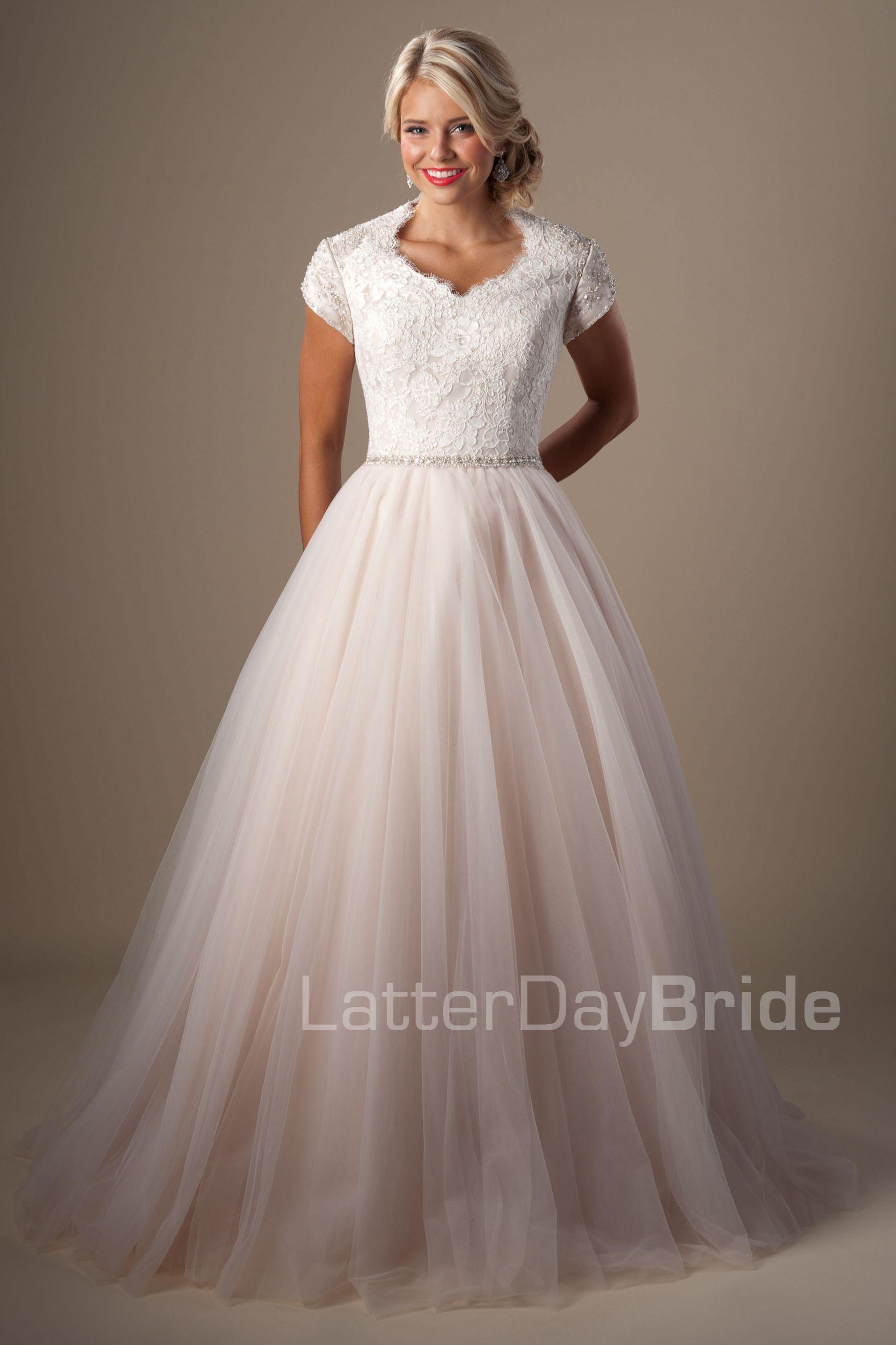 Modest wedding dresses ravenna latter day bride for Latter day wedding dresses