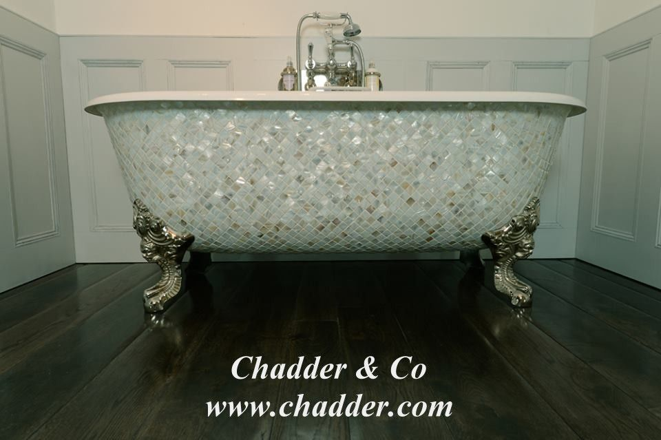 Chadite Blenheim Bath with Mother of Pearl Exterior from Chadder Co ...