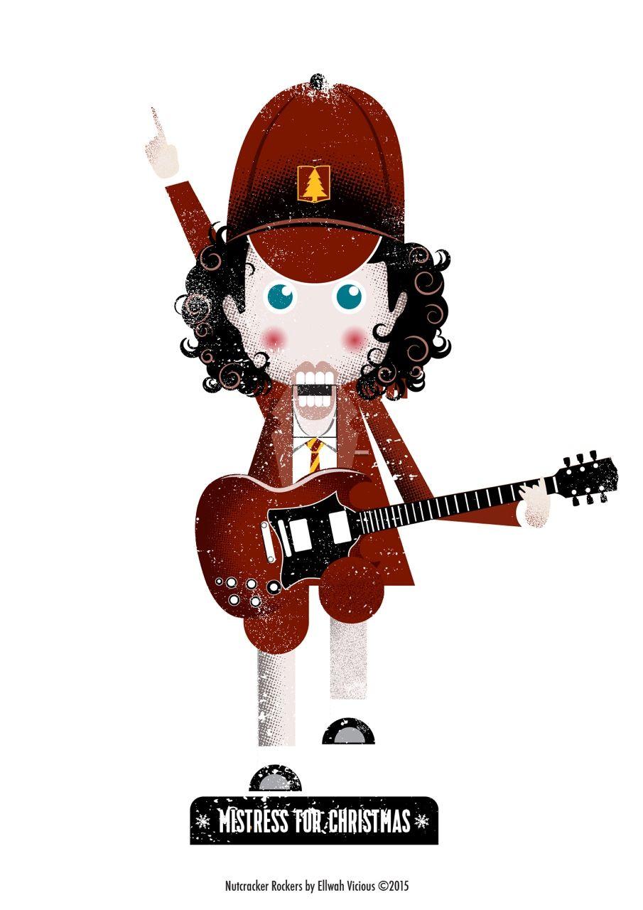 Angus Young (AC/DC) - Mistress For Christmas, Christmas card ...