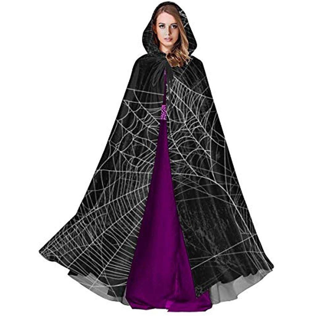 "Brand New 55/"" Hooded Cloak Adult Halloween Costume Accessory Black"