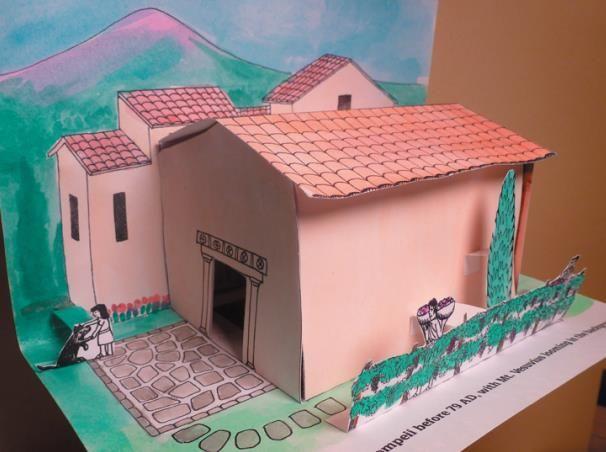 Model of roman house