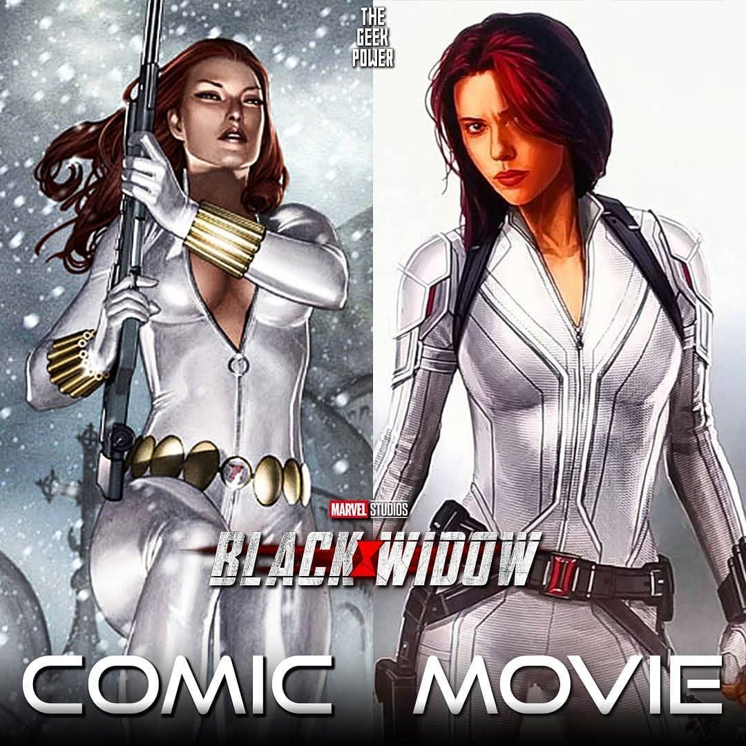 Black Widow White Costume In The Comics Movie Comment Your Thoughts About This New Suit Traje Blanco Black Widow Marvel Comic Movies Black Widow Movie