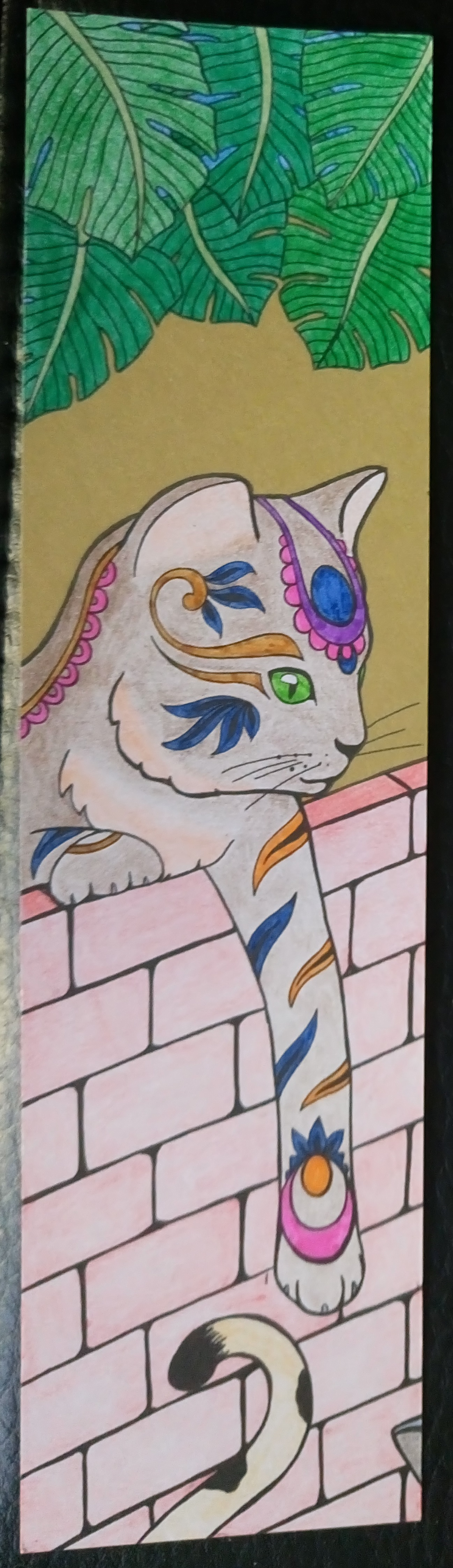 Colouring Mes Marque pages a colorier chats