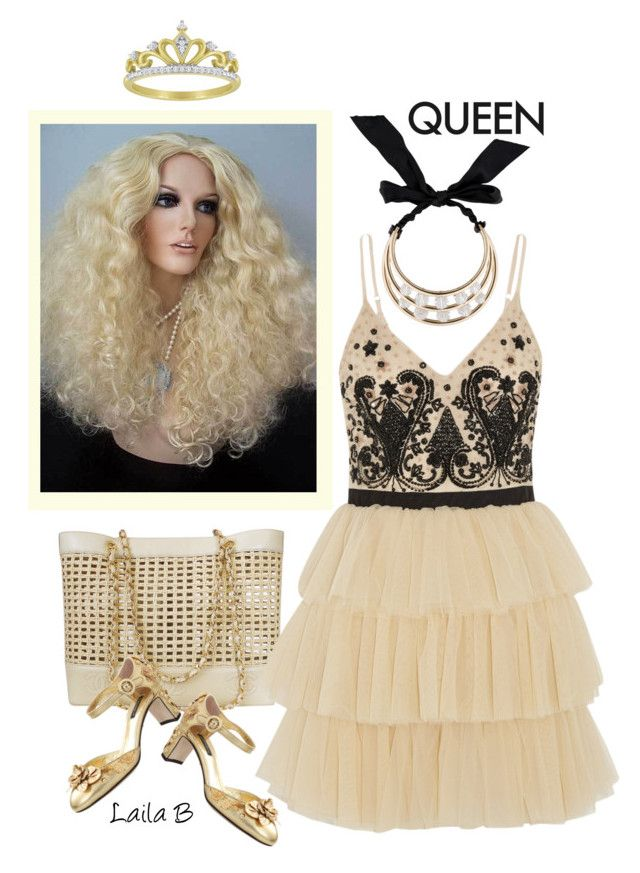 """Just be a Queen"" by laila-bergan ❤ liked on Polyvore featuring Nicki Minaj, Chanel, Alice + Olivia, Dolce&Gabbana, Lanvin, outfit, queen, fashionset and Contesthttp"