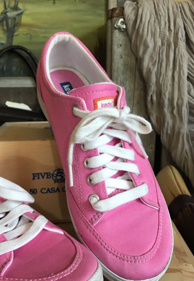 96d9b5d807f8 KEDS CHAMPION Women s Hot Pink Lace Up Tennis Sneakers WF12926M 8 Women s  Shoes