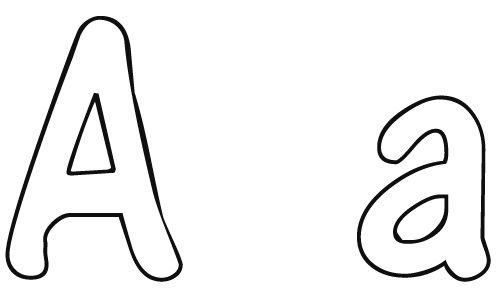 letter a letter writing worksheets and kids letter coloring page ...