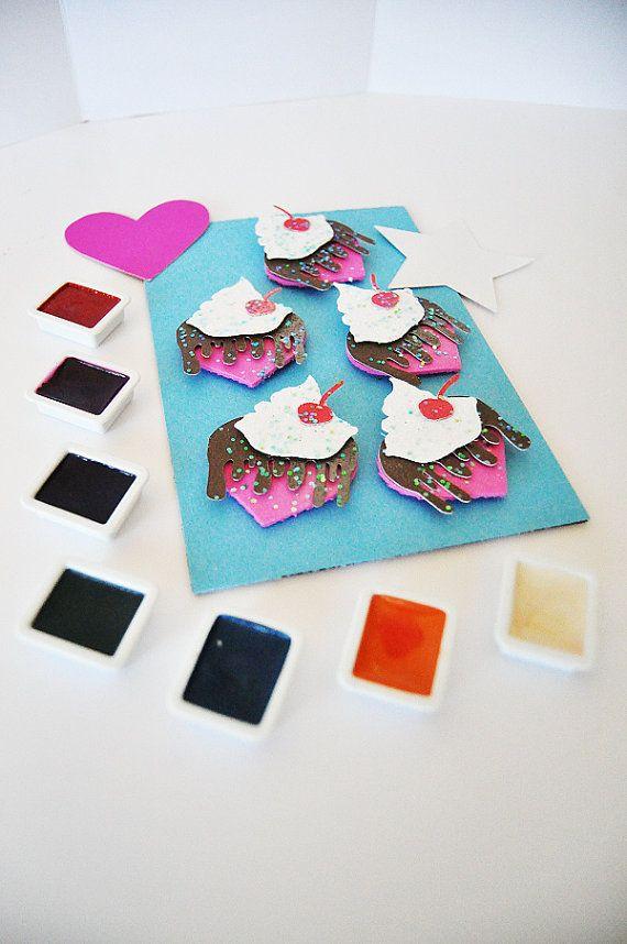 ON SALE!! Heart Sundae Stickers, 3D Stickers, Pastel Goth Sticker, Glitter Planner Stickers, Kawaii Planner Stickers, Stationery Sticker