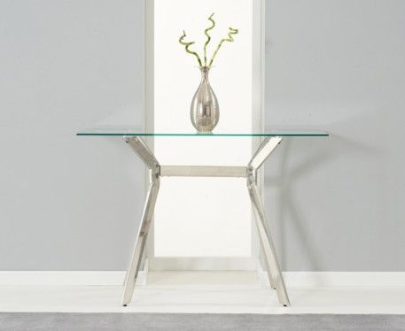 Cassia Glass And Steel Console Table.