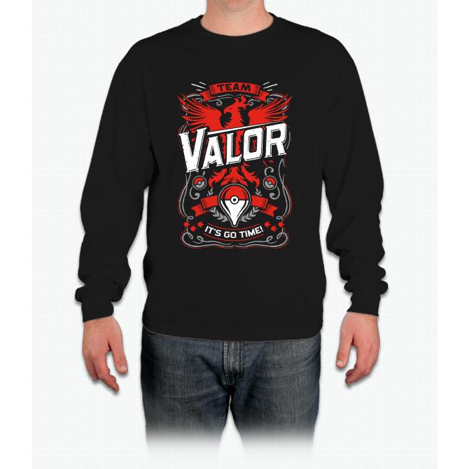 It s Go Time Team Valor Pikachu Long Sleeve T-Shirt  9f3a28d51