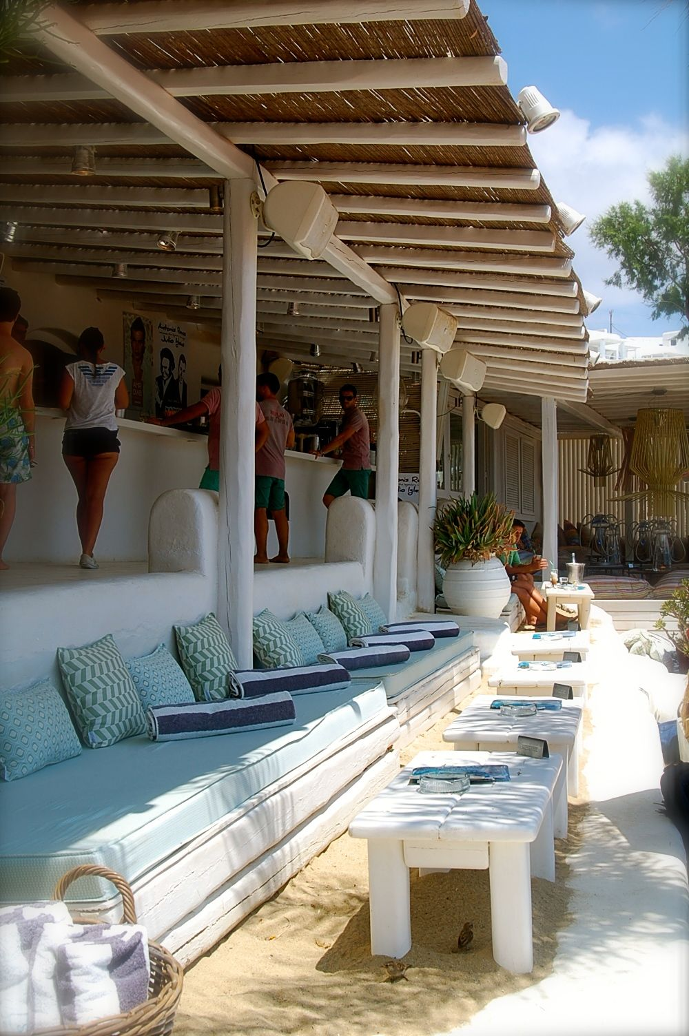 Mobilier Extérieur Club Piscine Panormos Beach Bar - Mykonos - Google Search | Hotel