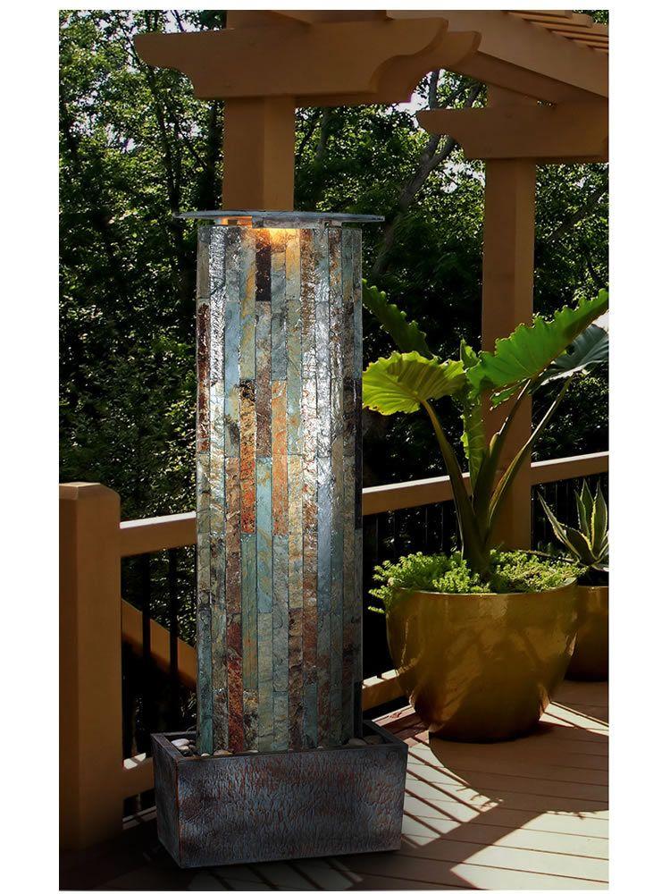Large Water Along Wall Indoor Outdoor Fountain Garden 400 x 300