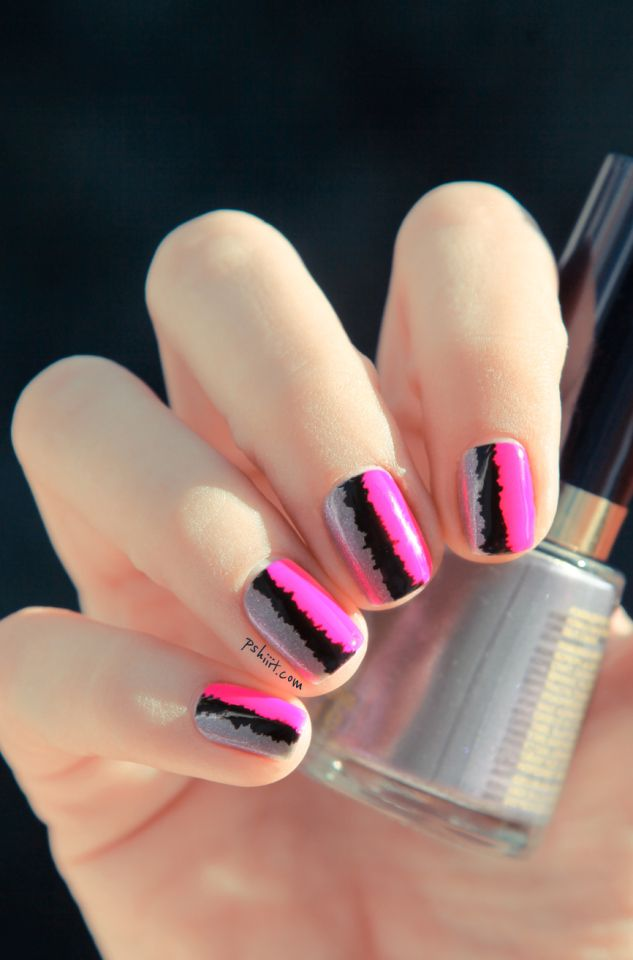 Tuto nail art « effet couture » | Neon pink nails, Pink nails and ...