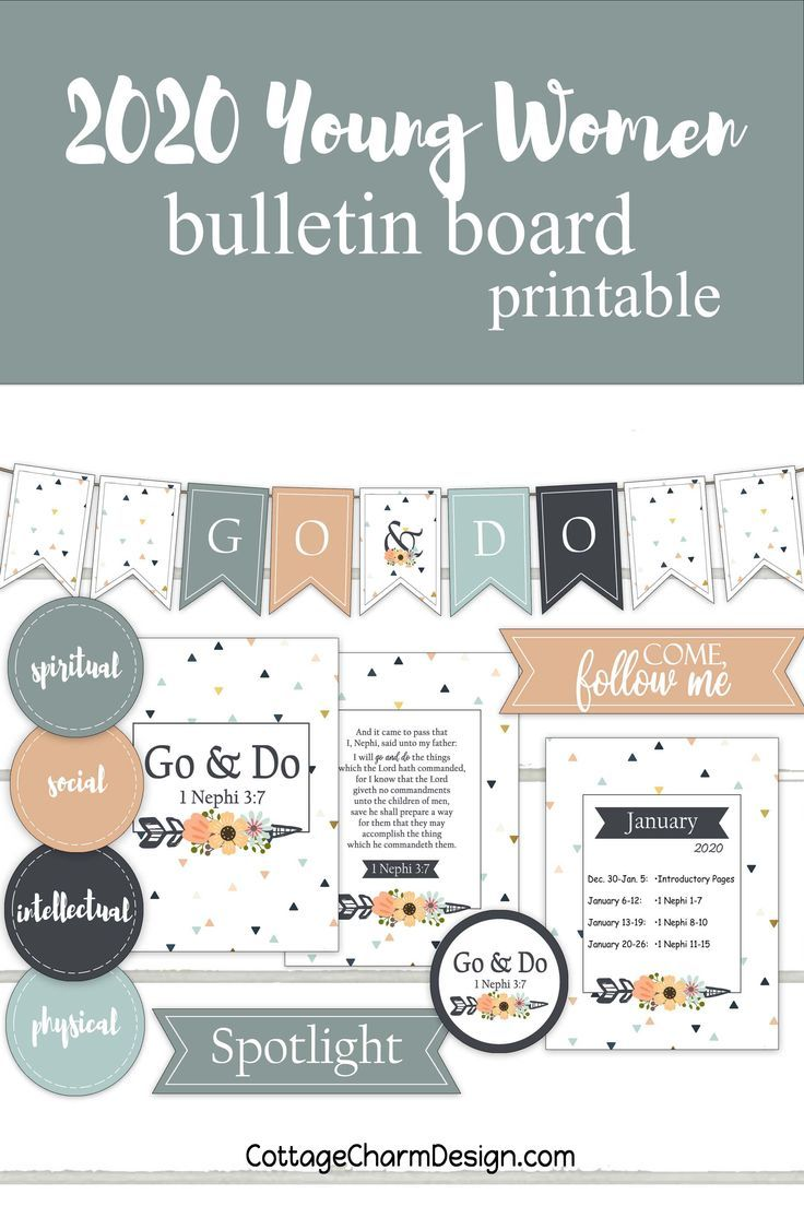 2020 Go and Do, Young Women Bulletin Board Printable