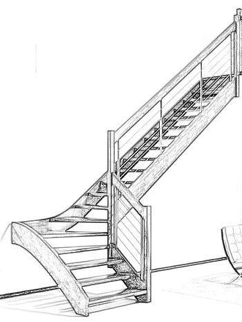 Resultado de imagen para escalera en l medidas escaleras - Medidas de escaleras ...