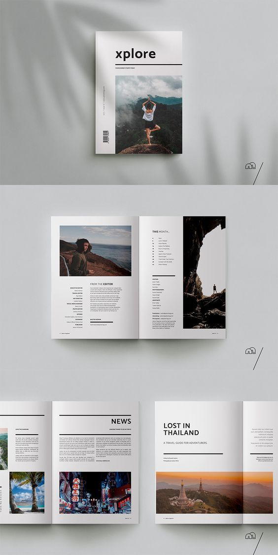XPLORE Travel Magazine is a professional, modern template with a focus on exploration. The layouts have been designed with generic travel themes in mind to cover everything from guides to journals, profiles/interviews or even photo essays. They are created to be edited easily and can be swapped, changed or combined with little effort to suit a variety of projects.