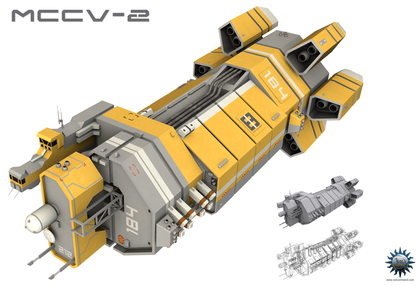PMU 2044 WIP Starship concept, Spaceship design