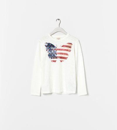BUTTERFLY T-SHIRT from Zara