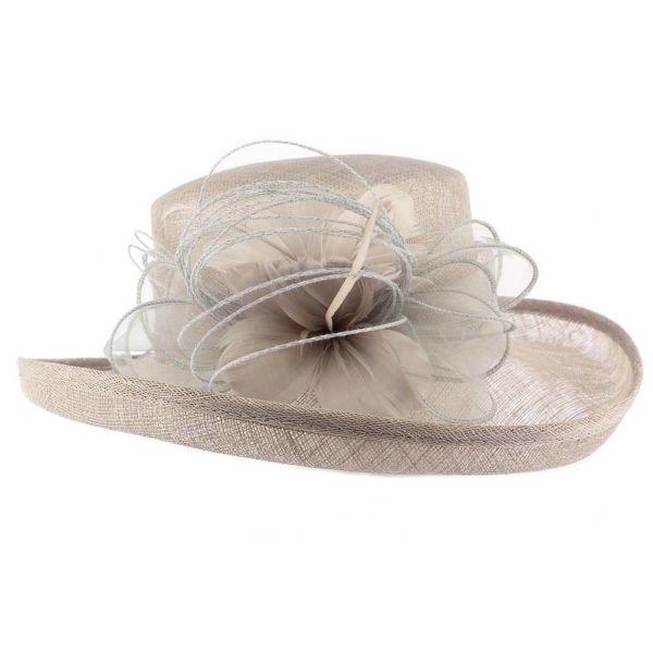 Chapeau Mariage Gris Bora en paille sisal #chapeaumariage #mariage #mode #fashion sur votre boutique Mariage Hatshowroom.com