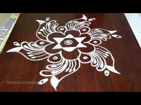 Easy Rangoli Sankranthi Designs Only 4 4 Straight Dots Ll Telugu