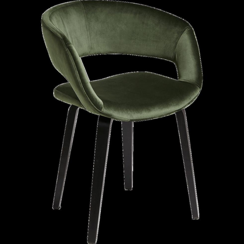 accoudoirs velours avec en JOYAUPROJET Chaise cèdre vert 5RjcS3Lq4A