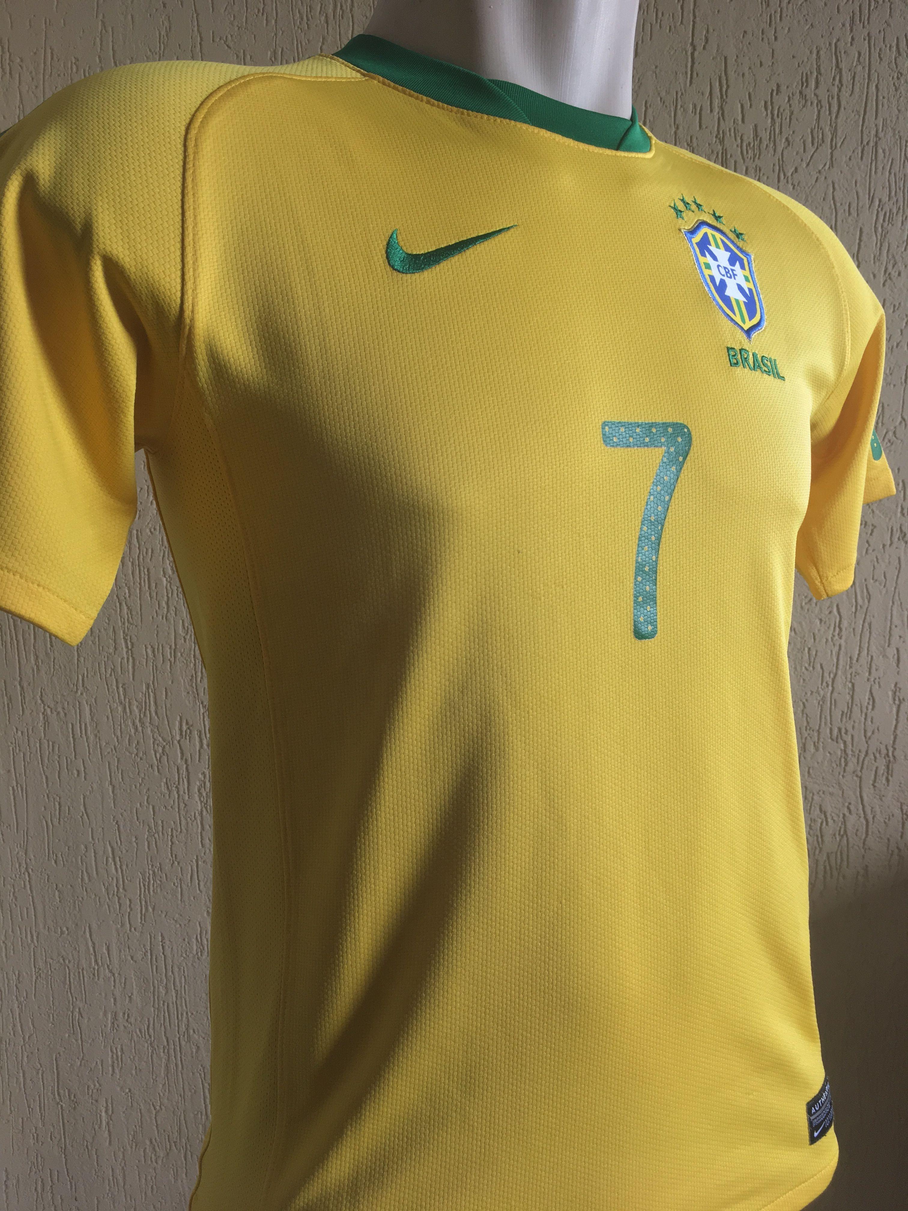 7a0664587ab1b Camisa I - Seleção Brasileira Copa do Mundo 2010 Tamanho 16 Largura 46cm  Cumprimento  62cm