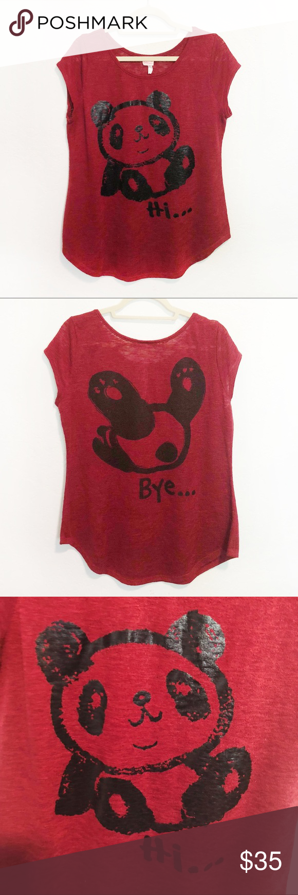 "TOTO Panda ""Hi / Bye"" Sleeveless Top 1X | Pinterest | Panda ..."