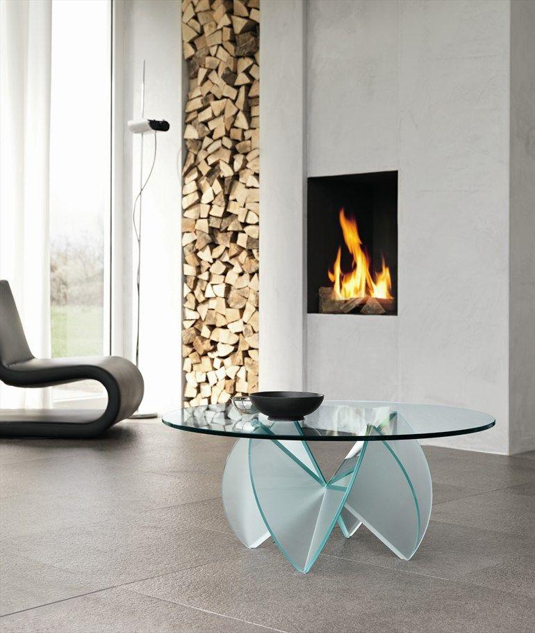 Glass Coffee Table ROSA DEL DESERTO By @Tonelli Design