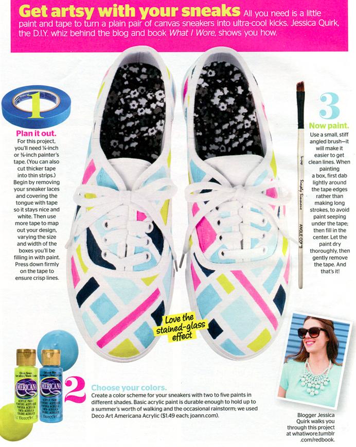 Summer Sneaker Makeover as seen in @Carolyn Rafaelian Rafaelian Booker Magazine 's August issue! Details on whatiwore.tumblr.com, DIY keds makeover
