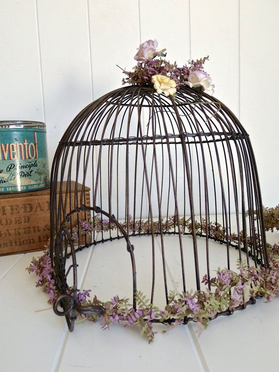 Caroline Vintage Style French Bird Cage Metal by selinabeadsnbits