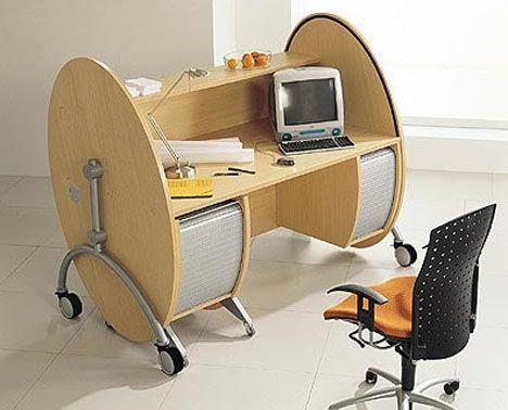 Rolltop Desks Revisited Modern Affordable Portable With Images Computer Desk Design Office Furniture Design Office Desk Designs