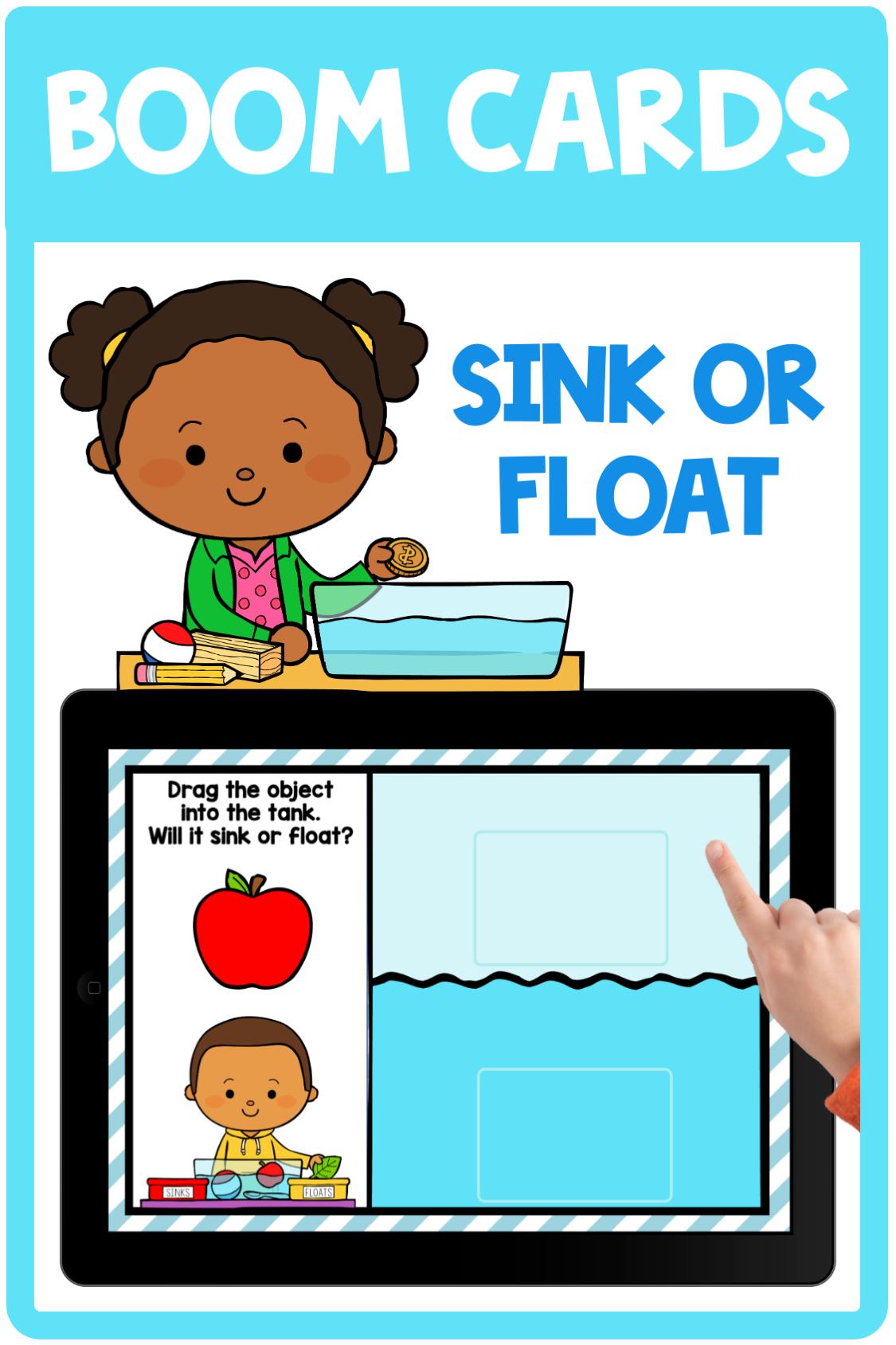 Sink Or Float Boom Cards K 2 Boom Cards Science Boom