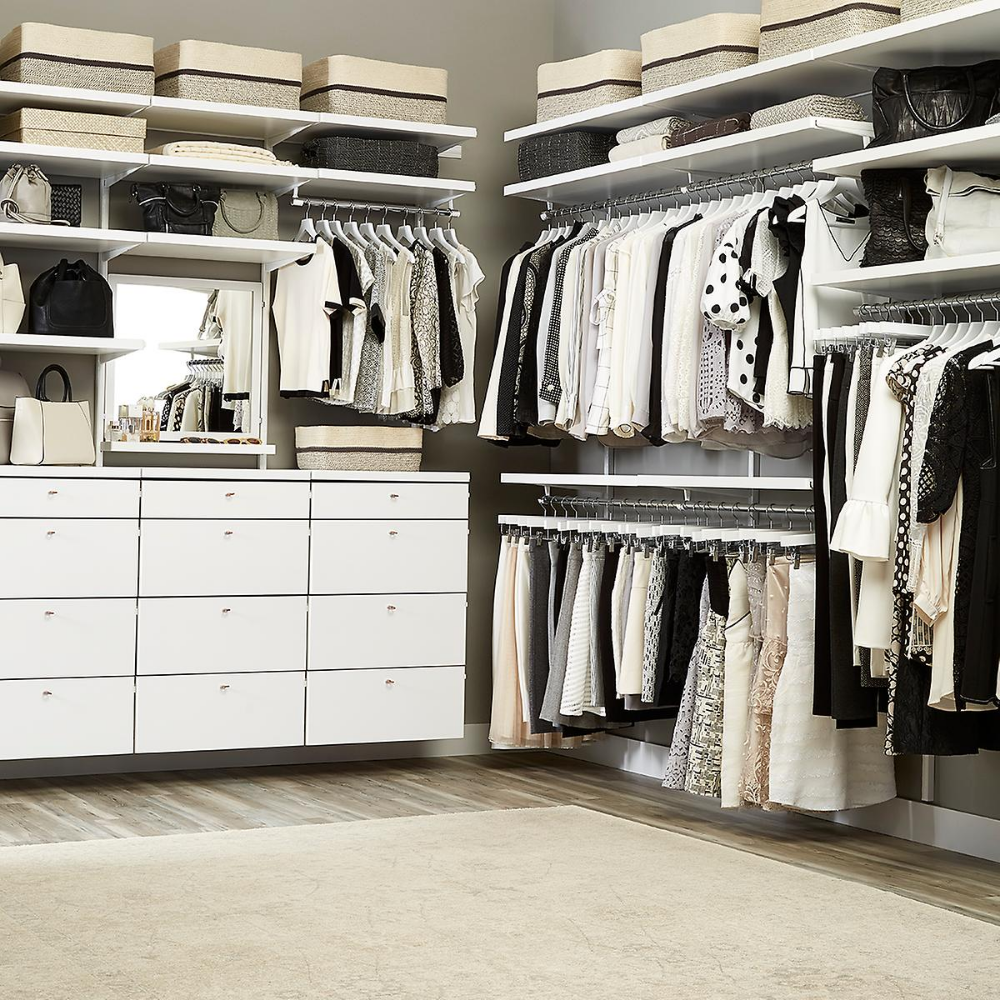 White Elfa Décor Drawer Frames & Fronts The Container
