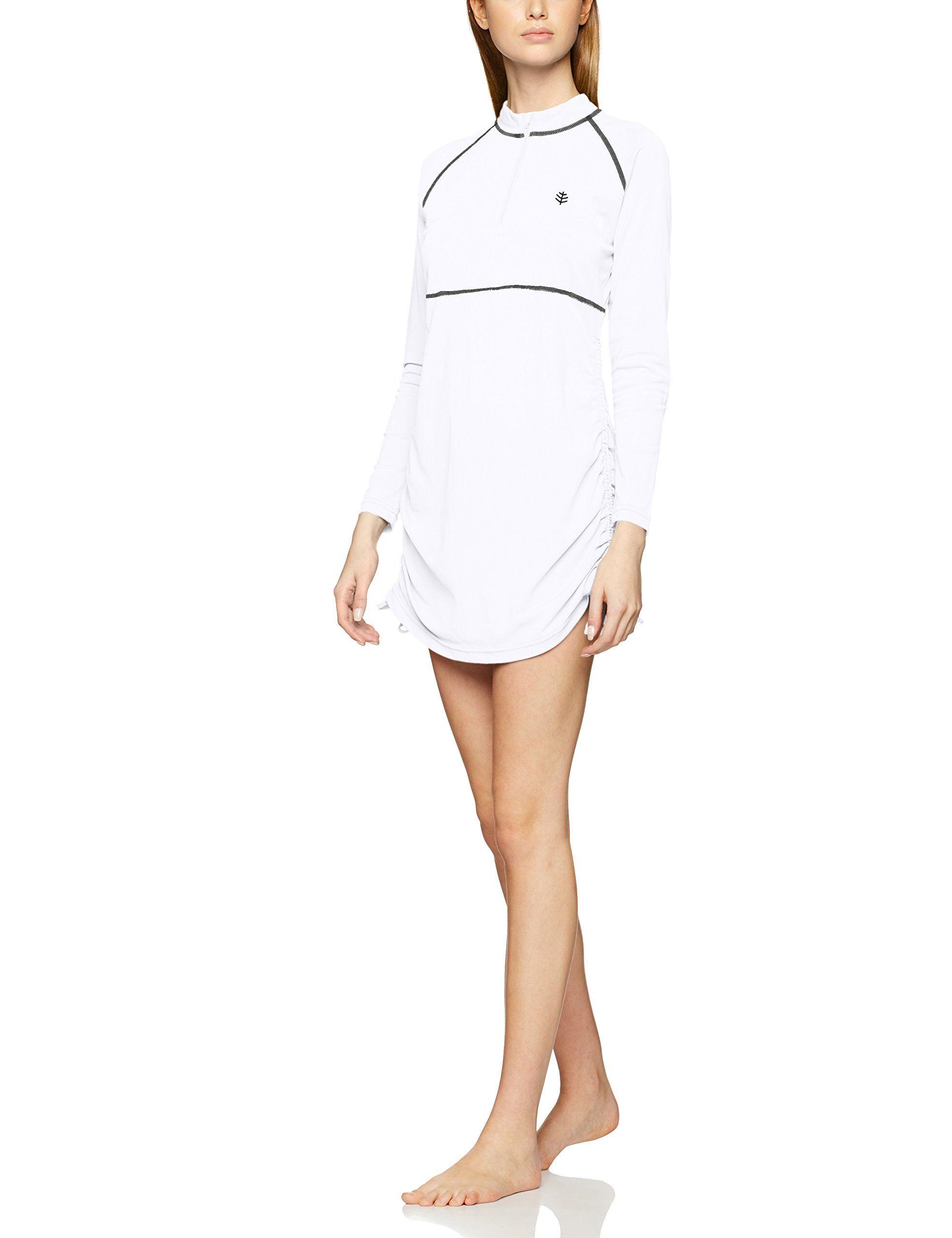 Cooliba con Protezione UV UPF 50+ Maglietta a Maniche Corte con Zip Donna