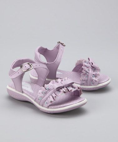 Take a look at this Lilac Ruffle Sandal by Pampili on #zulily today!