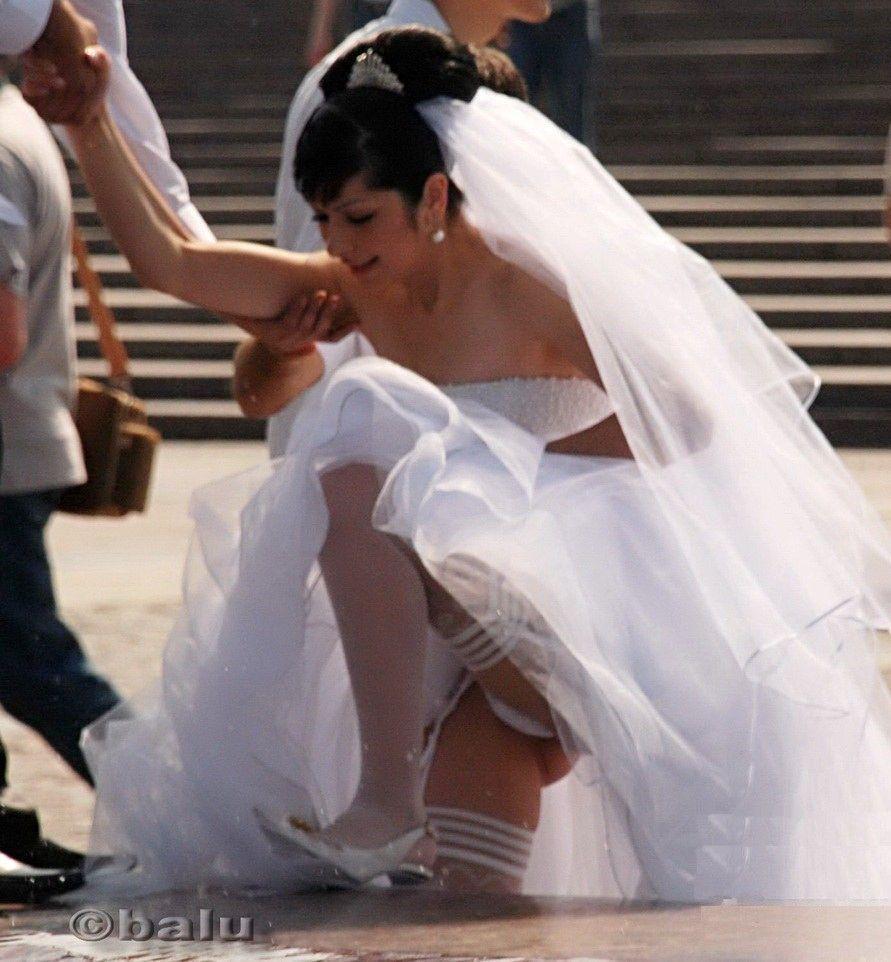 upskirts Naughty bride