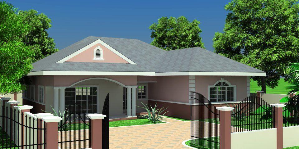 Architeture à l'haitienne Three bedroom house plan
