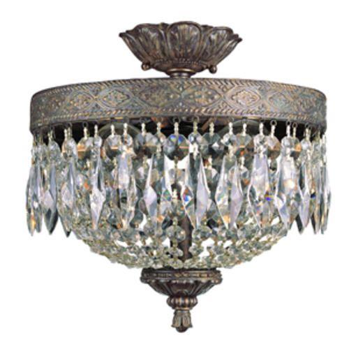 Bel Air Lighting Crowned Crystal 2 Light 12 Dark Bronze And Gold