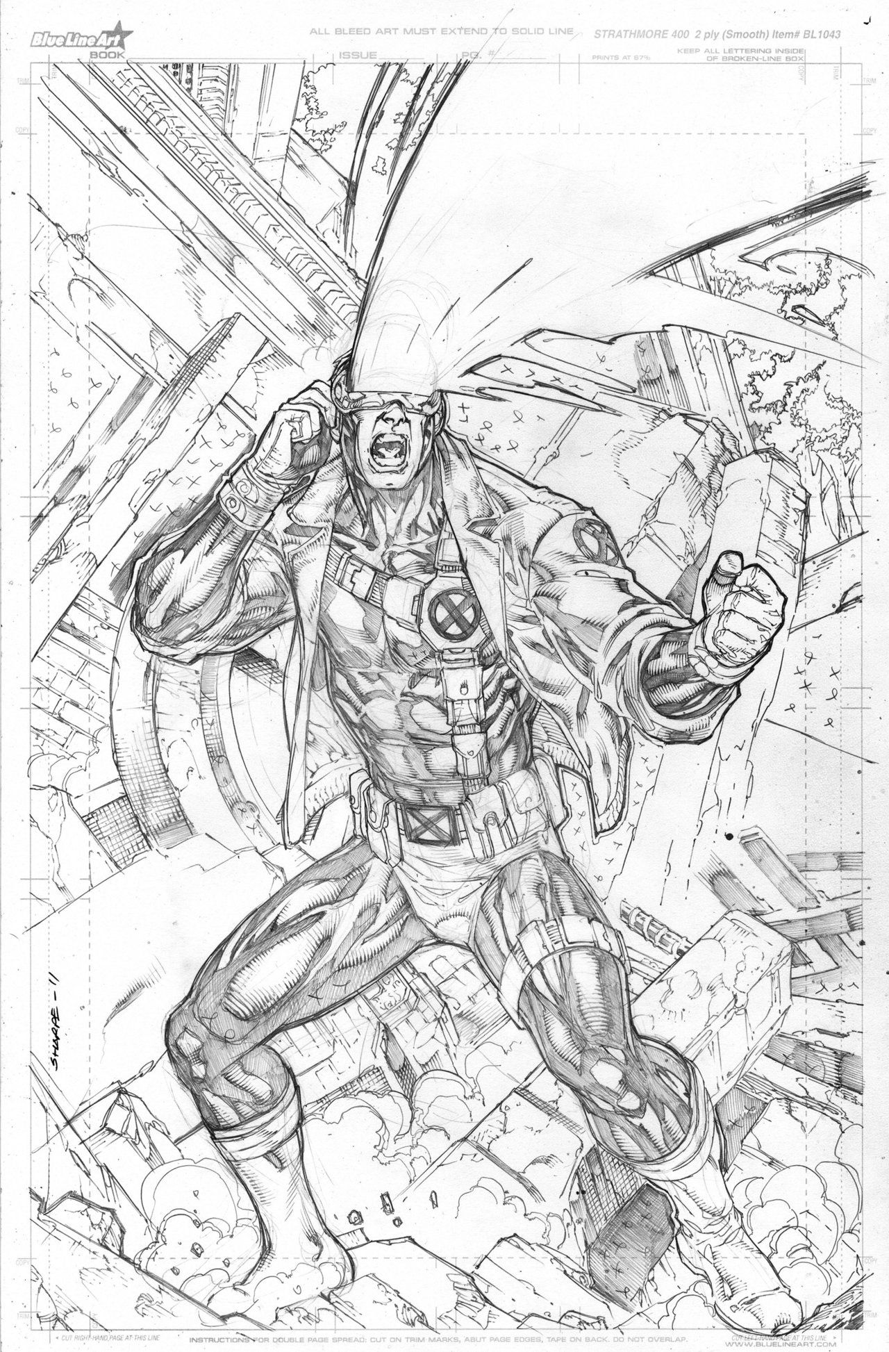 Cyclops Commission By Kevin Sharpe On Deviantart Xmen Art Drawing Superheroes Superhero Coloring Pages