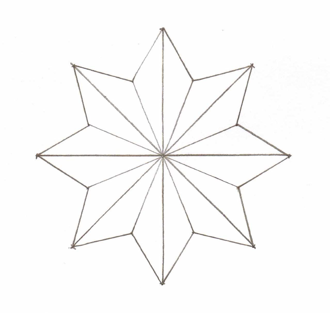 pattern for 8 pointed star | ... , Pins, Pinning Board ...