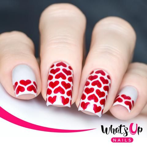 heart lines stencils in 2019  heart nails nail art