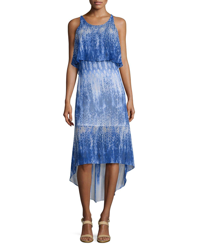 Catherine Catherine Malandrino Sleeveless Graphic Chiffon Dress, San Francisco Blue, Women's, Size: 12, San Franci - http://musteredlady.com/catherine-catherine-malandrino-sleeveless-graphic-chiffon-dress-san-francisco-blue-womens-size-12-san-franci/  .. http://goo.gl/p3tvj6    MusteredLady.com