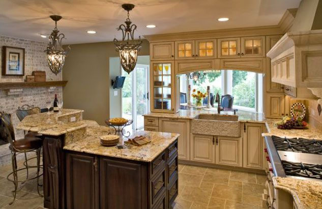 Kitchen  Love The Cabinetsthink I'd Want The Island All One Beauteous Tuscan Kitchen Designs Design Decoration