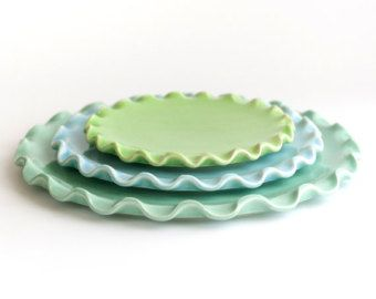 Items similar to MADE TO ORDER - Set of 2 - Pottery Plates - Your ...
