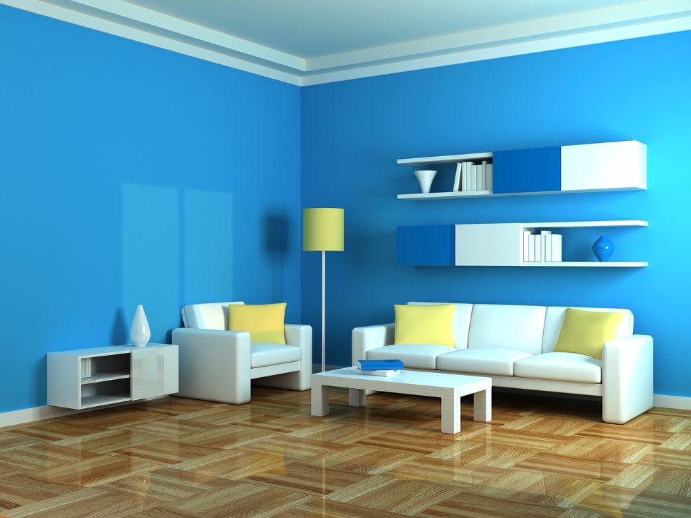Asian Paints Blue Wall